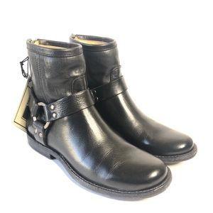 Frye Phillip Harness Short Boots Leather Size 6M